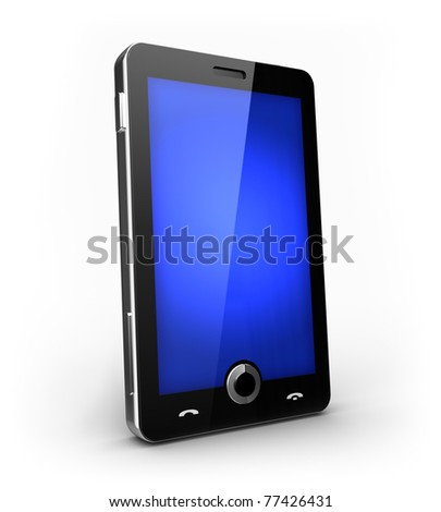 Futuristic cell phone with touch screen