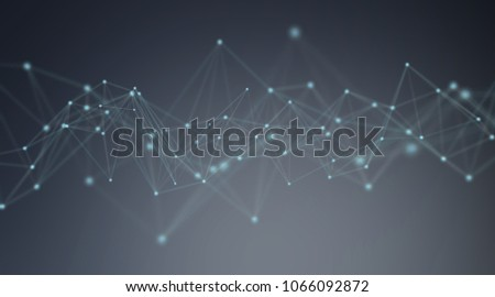 Futuristic connection interface illustration on blue background 3D rendering