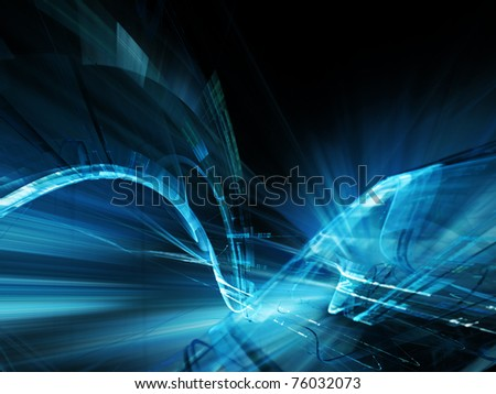 Futuristic dark blue background element