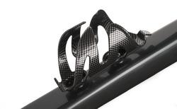 Futuristic design Carbon fiber bicycle bottle holder isolated on white background