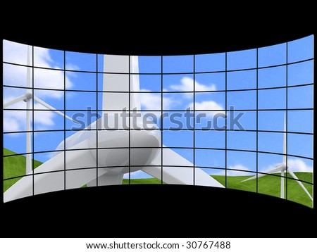 Futuristic Digital Age TV and Channels Background