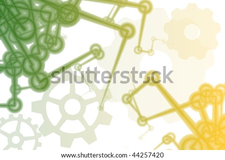 Futuristic Factory Robot Tech Arms Abstract Illustration