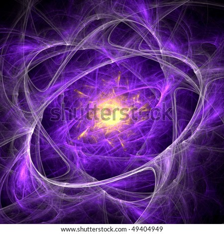Futuristic fractal image with a science fiction theme