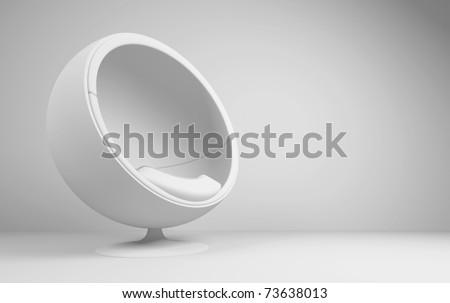 Futuristic Interior - stock photo