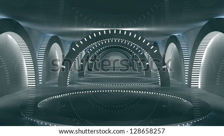 Futuristic interior SCIFI Science Fiction
