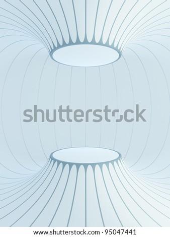 futuristic interior space, 3d render