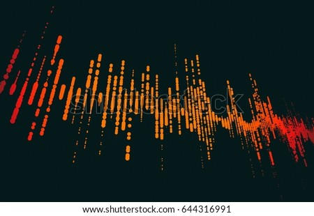 Futuristic pulse hud. Audio digital equalizer technology background (very high resolution) 3D