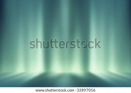 Futuristic room, ideal background for figure