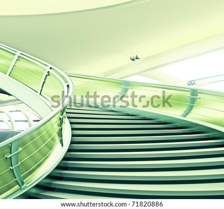 Futuristic Spiral Staircase