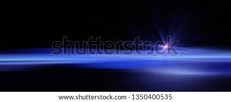 Futuristic stripe panorama background design with lights #1350400535