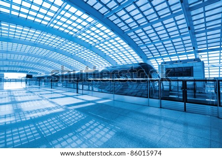 futuristic subway station,capital airport express,China