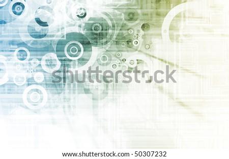 Futuristic Tech Design on a White Background