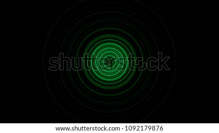 Futuristic video animation with particle stripe object and lights in motion. Circular glow animation stock photo