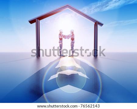 futuristic vision - stock photo