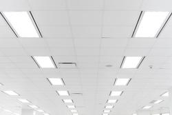 futuristic white office ceiling