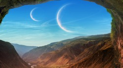 Futuristic world landscape wallpaper image