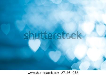 Fuzzy heart, defocused background