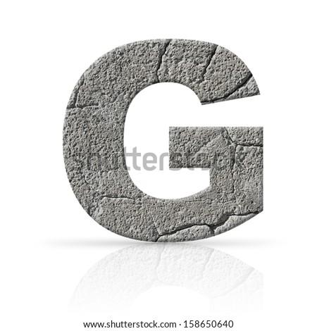 g letter cement texture Stock fotó ©