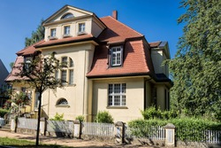 güstrow, germany - renovated old house