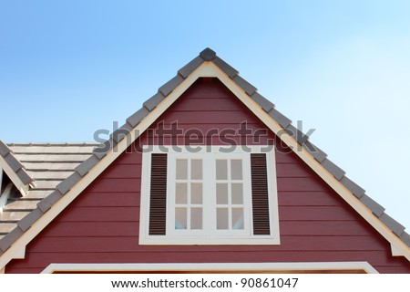gable of the house