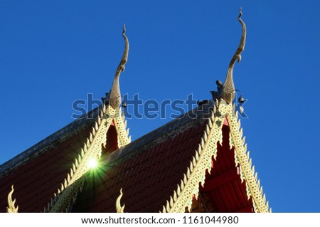gabled chinese roof