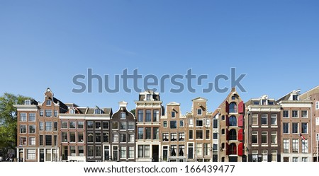 Gables in Amsterdam, The Netherlands,