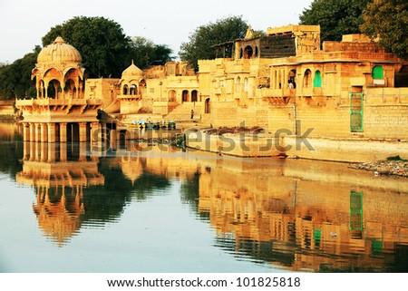 Gadisagar lake, Jaisalmer, India