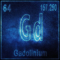 Gadolinium chemical element, Sign with atomic number and atomic weight, Periodic Table Element