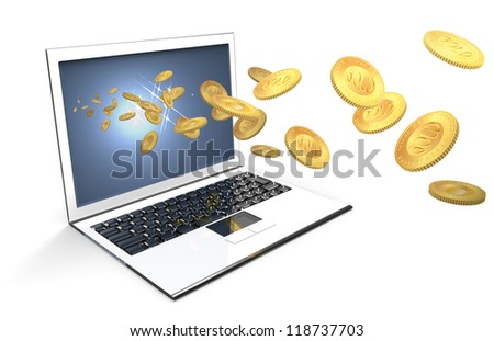 gain on a PC - stock photo