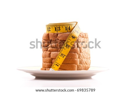 Gaining Weight With Bread and Carbs Concept Image
