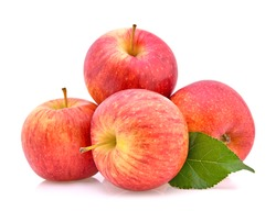 Gala apples isolate on white background