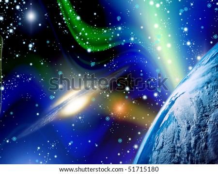 Galactic universe (beautiful and bright background)