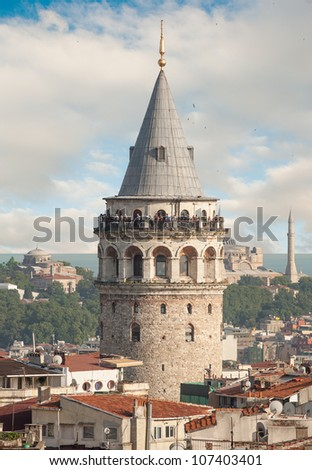 Galata Tower Building in Istanbul