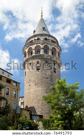 galata tower exterior in istanbul turkey