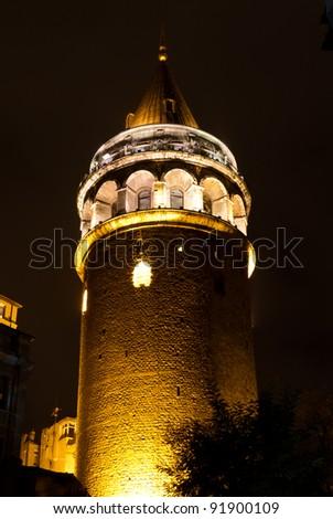 Galata Tower from Istanbul, Turkey