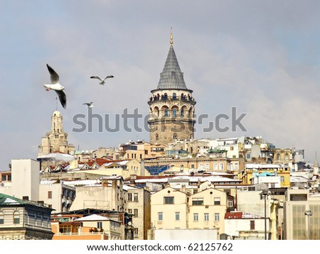 Galata tower in winter