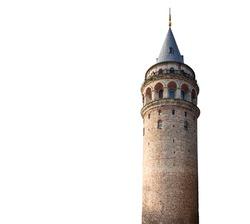 Galata tower on White background