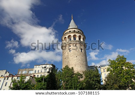 Galata Tower taken in Istanbul, Turkey