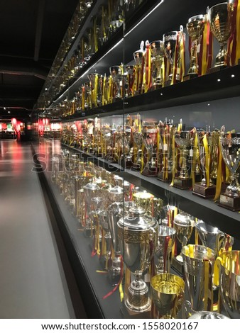 Galatasaray team's museum and championship trophies. #1558020167