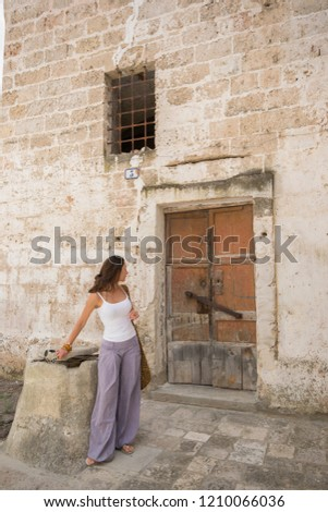 Galatina, Italy - June 20th 2015 : known before the unification of Italy as San Pietro in Galatina is a town and comune in the Province of Lecce in Apulia, southern Italy.