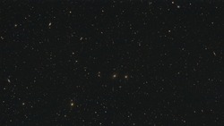 Galaxies forming the Markarian's Chain as part of the Virgo Cluster in the constellation Virgo photographed from Schmalenberg in Germany.