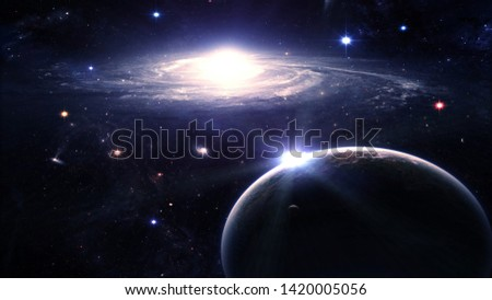 Galaxies in the vast space universe, proof of God's power