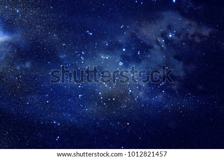 Galaxy and nebula . Starry outer space background texture