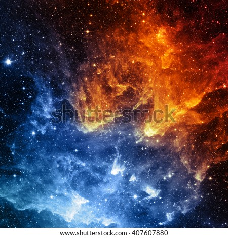 Stock Photo Galaxy. Contrast of color - Elements of this Image Furnished by NASA