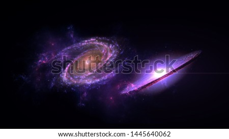 galaxy, cosmos, physical, science fiction wallpaper. Deep space. Billions of galaxies in the universe for background.