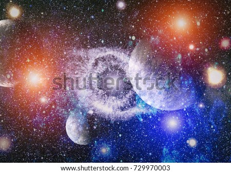 Galaxy - Elements of this Image Furnished by NASA .