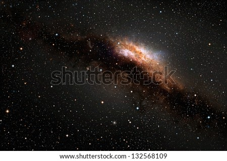 Galaxy in deep outer space