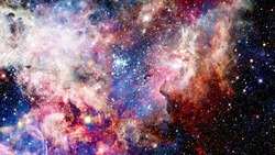 Galaxy in deep space, glowing mysterious universe. Elements of this image furnished by NASA.