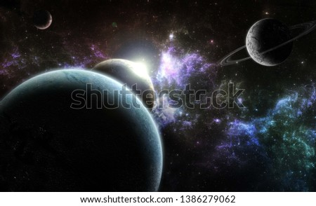 Galaxy in deep space universe