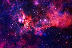 Galaxy in outer space. Beautiful science fiction wallpaper. Elements of this image furnished by NASA